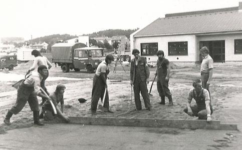 Baubeginn der Unterkunft